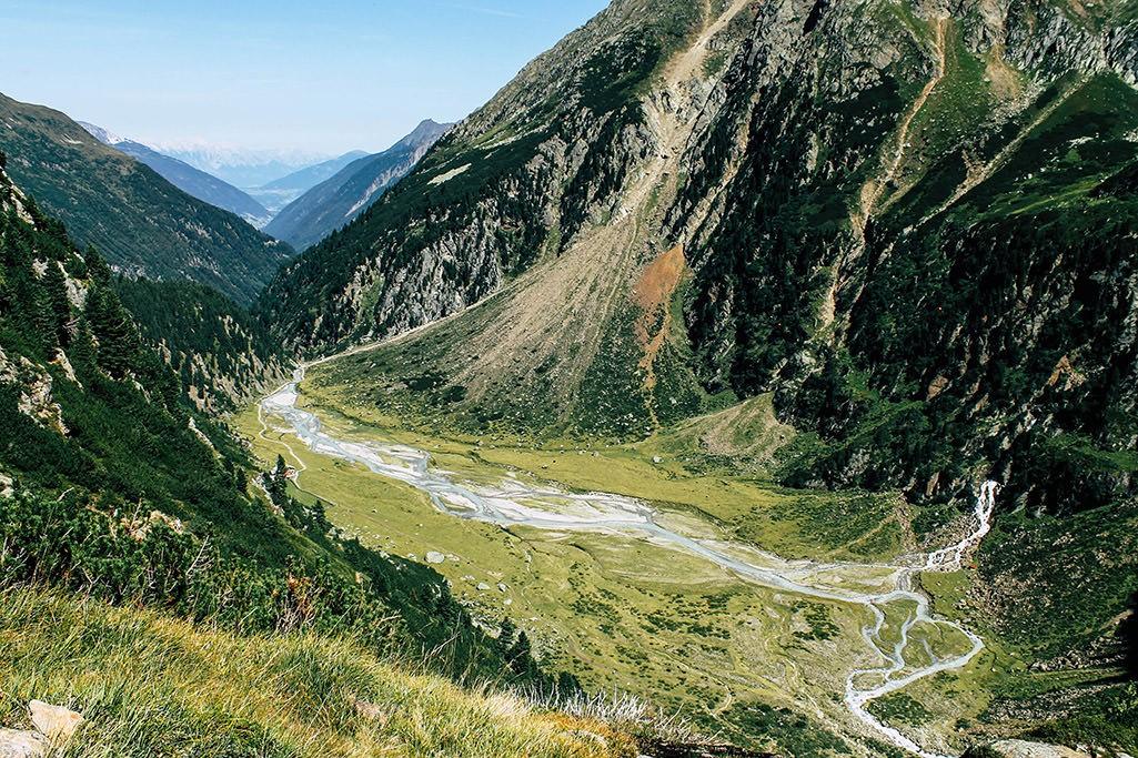 Blick von oben auf das Sulzenegg