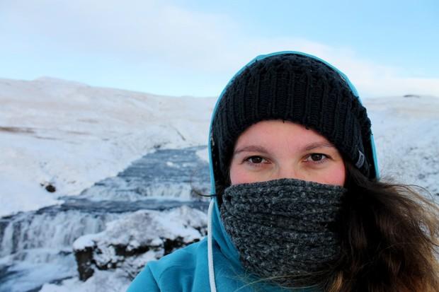 Abenteuerlust in Island am Skogafoss