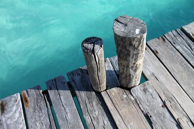 Holzsteg auf der Isla Mujeres