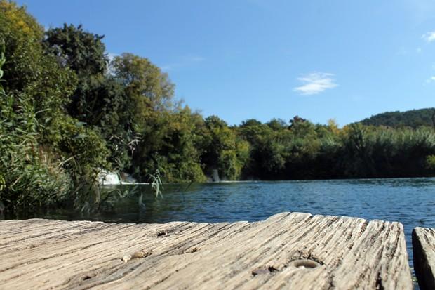 Holzsteg im Krka Nationalpark