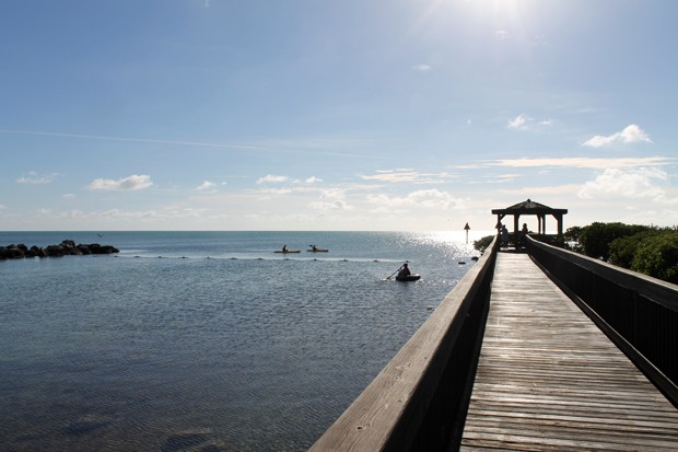 Holzsteg in den Florida Keys
