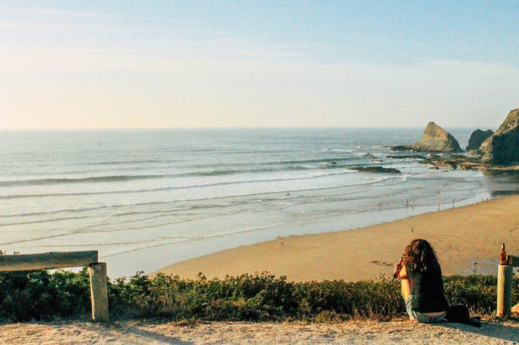 Praia de Odeceixe an der Algarve