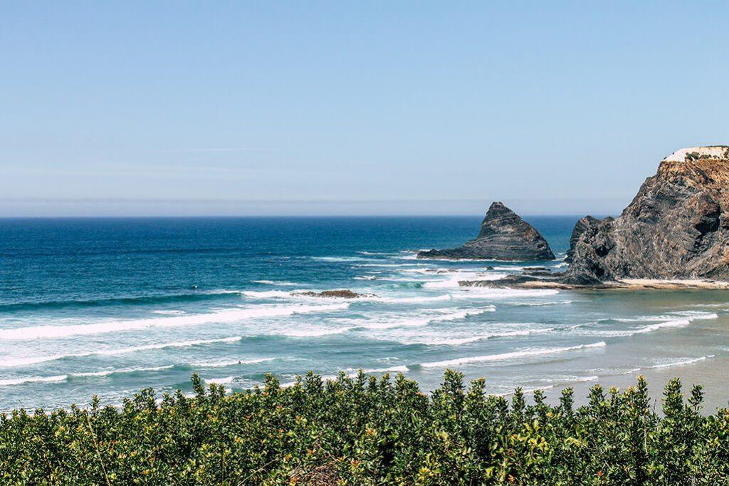 Blick auf den Praia de Odeceixe
