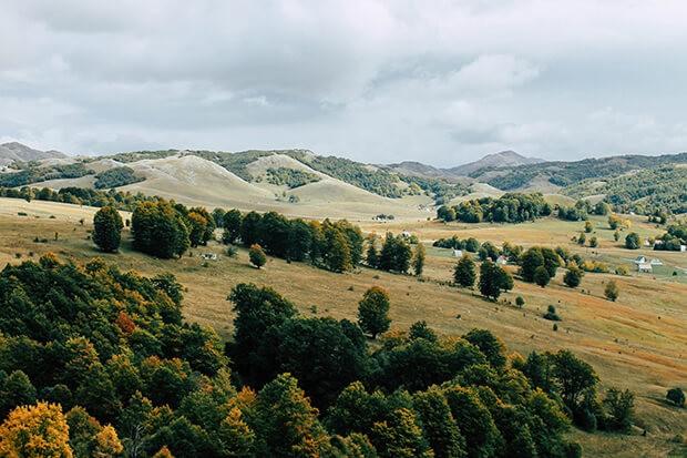 Landschaft im Hinterland Montenegros