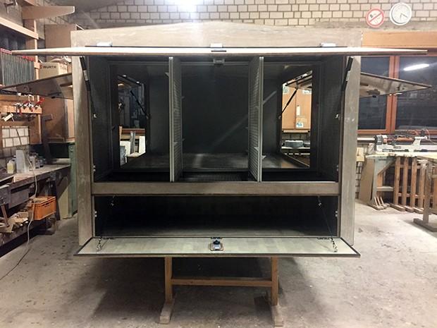 Ansicht des Rohbaus der Absetzkabine für Pritschenwagen