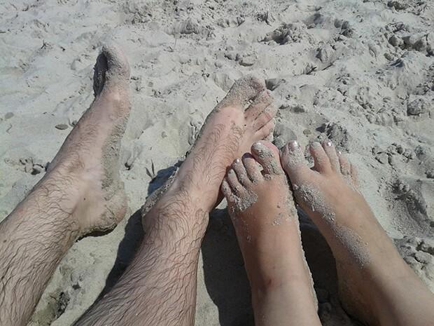 """Das obligatorische """"Fueße im Sand""""-Bild"""