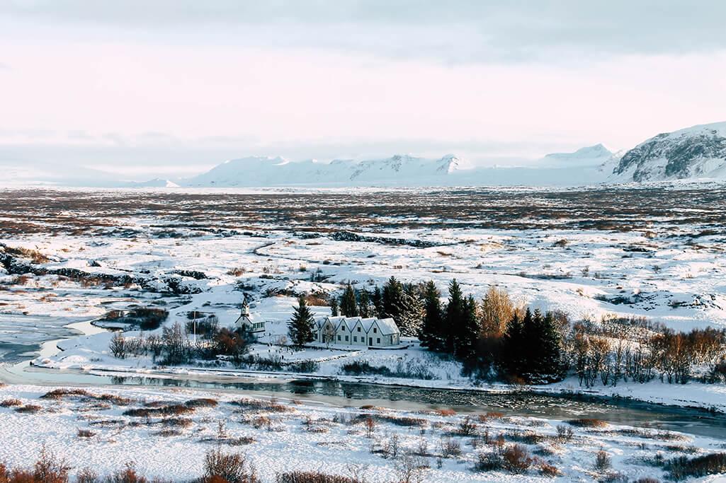 Blick auf den Thingvellir Nationalpark