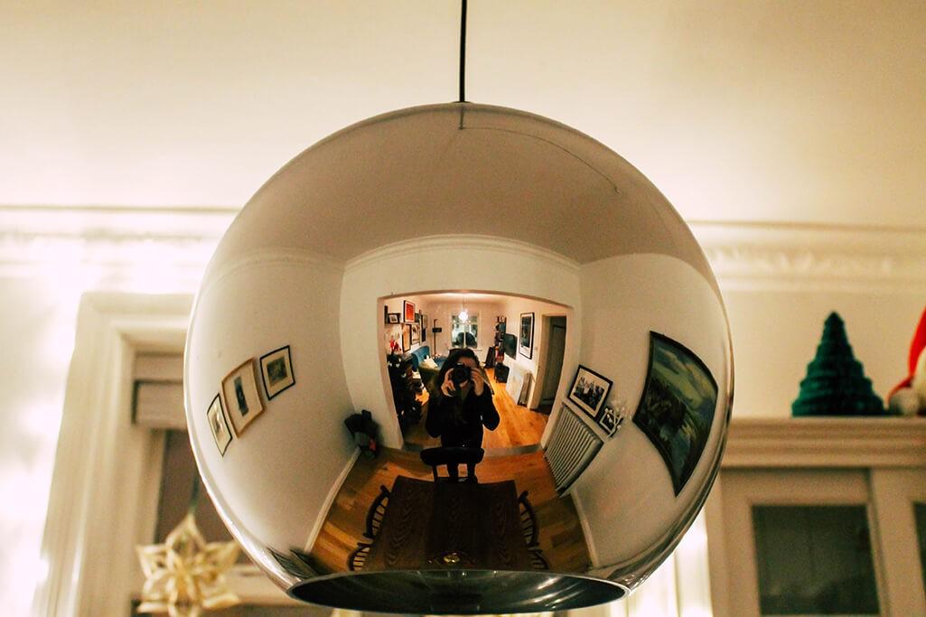 Spiegelung in Lampe