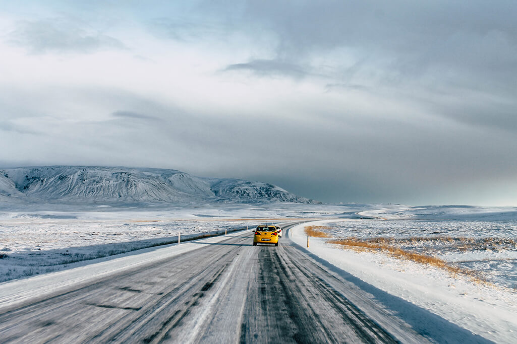 Strasse auf dem Weg zum Golden Circle in Island