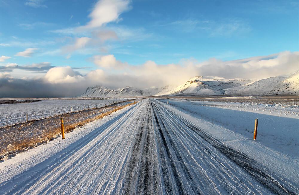 Straße abseits der Ringstrasse in Island