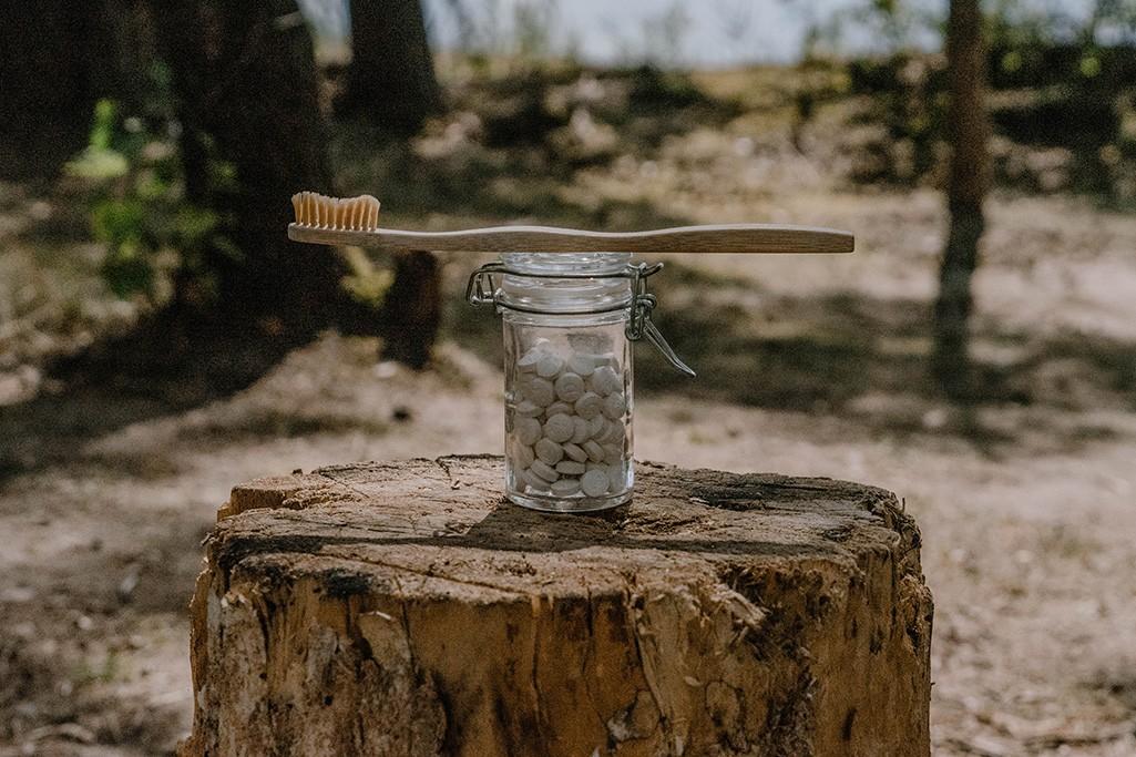 Nachhaltigkeit beim Camping feste Zahnputztabs