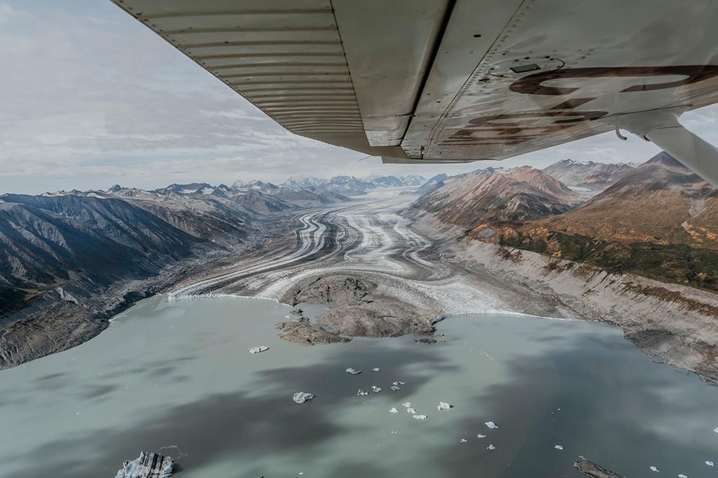 Flug über Kluane NP im Yukon