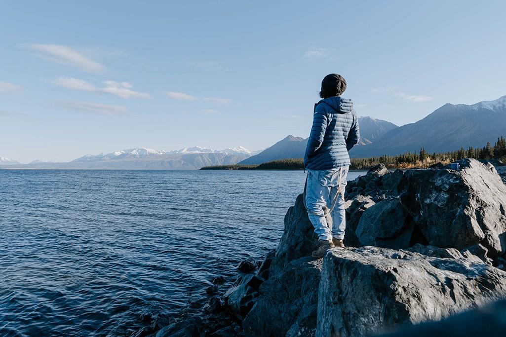 Blick auf See im Yukon zum Thema Naturprodukte
