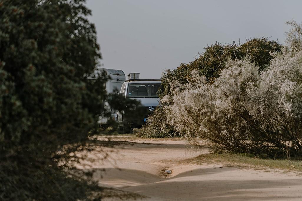 VW T5 beim Naturcamping