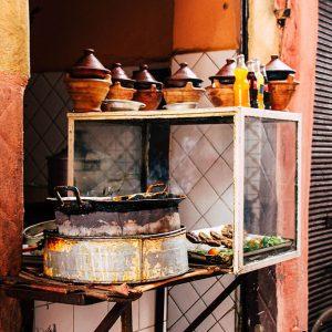 offene Kueche in Marrakech auf dem Souk