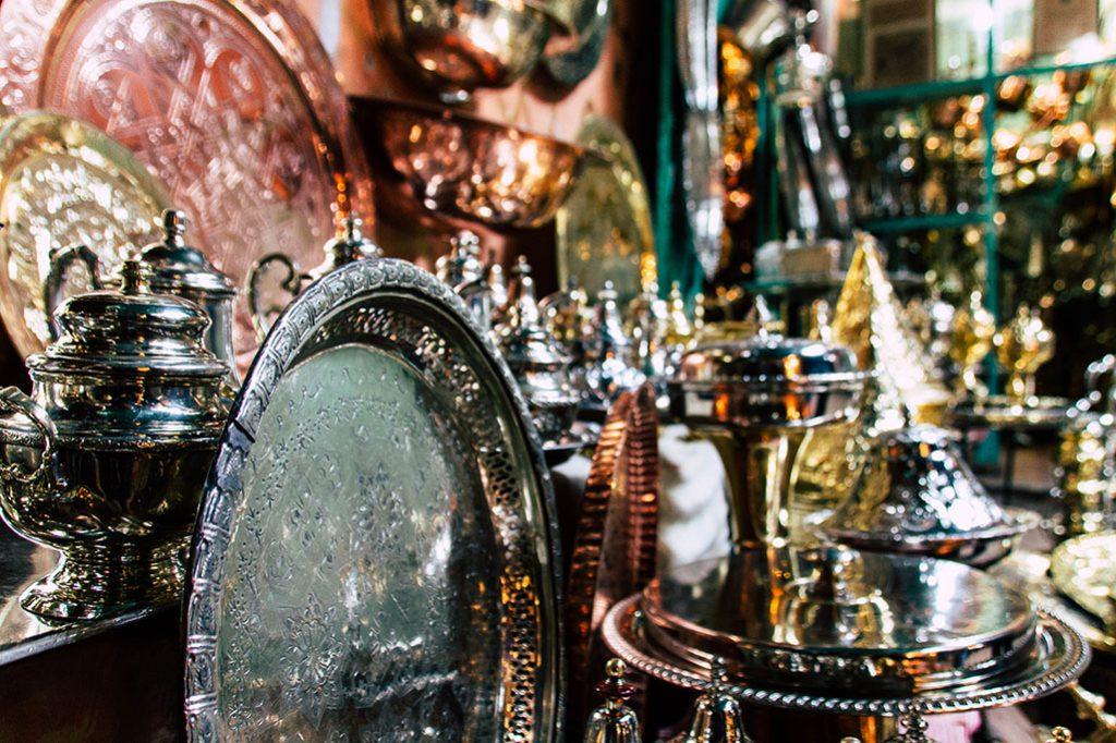 Stand in der Medina Marrakechs