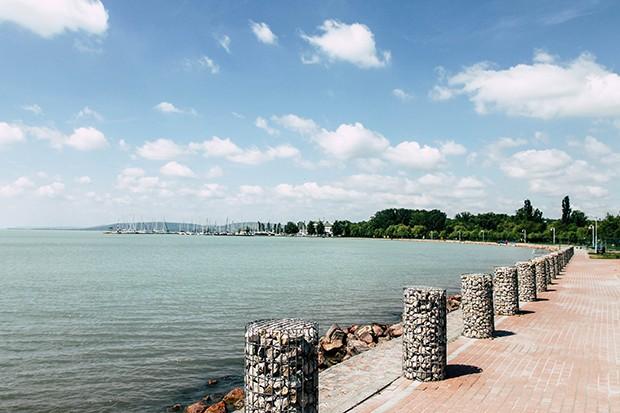 Blick auf den Balaton in Ungarn