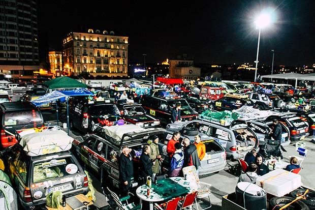Blick auf das Fahrerlager in Istanbul.