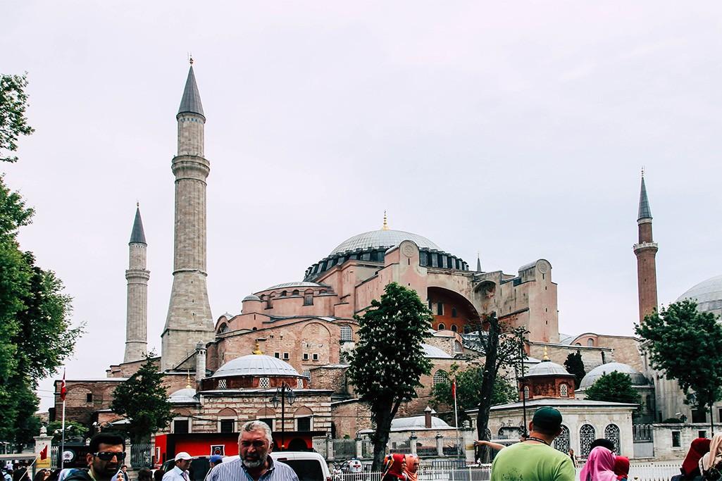 Blick auf die Hagia Sofia