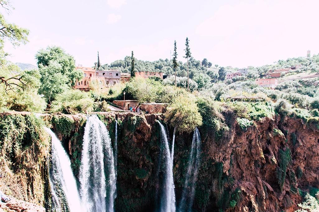 Blick auf den Ouzoud Wasserfall