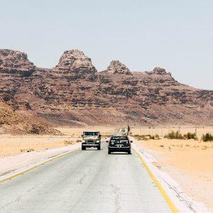 Straße in Jordanien