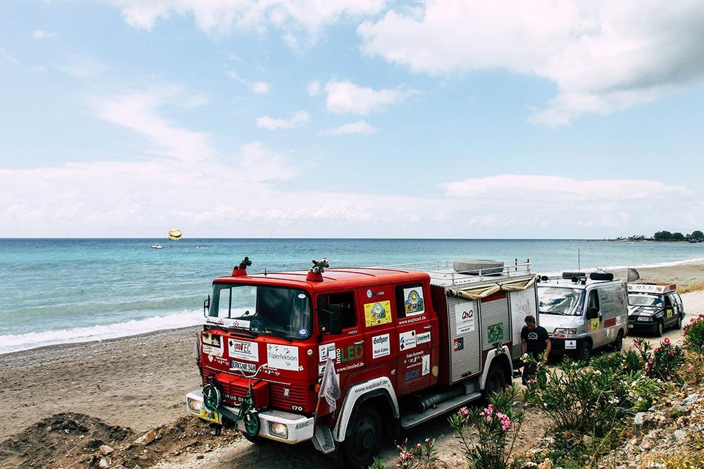 Pause am Mittelmeer mit dem Team BorderCross