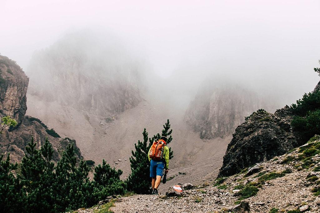 Bergführer auf dem Adlerweg