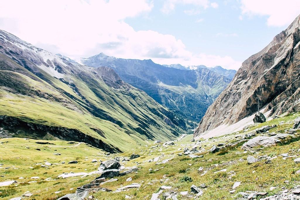Blick ins Tal am Fuße des Großglockners