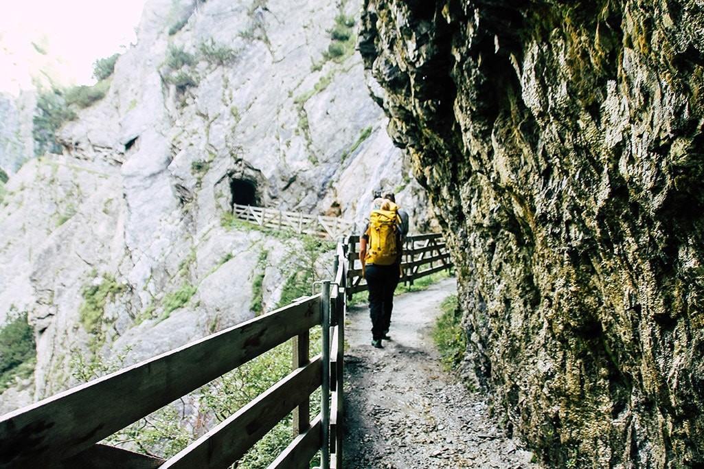 Weg durch die Dabaklamm im Nationalpark Hohe Tauern