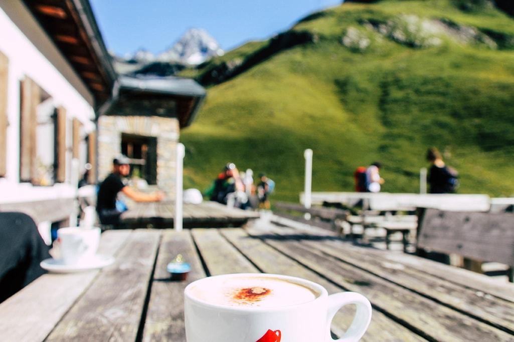 Cappuccino auf der Lucknerhuette