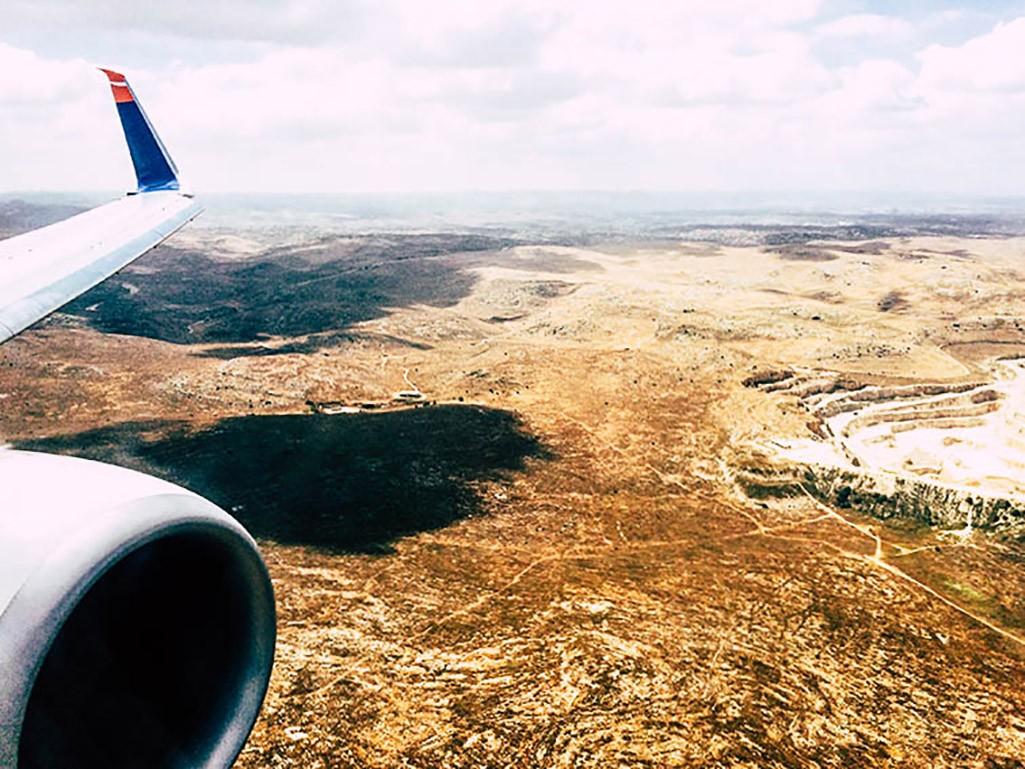 Anflug auf Israel
