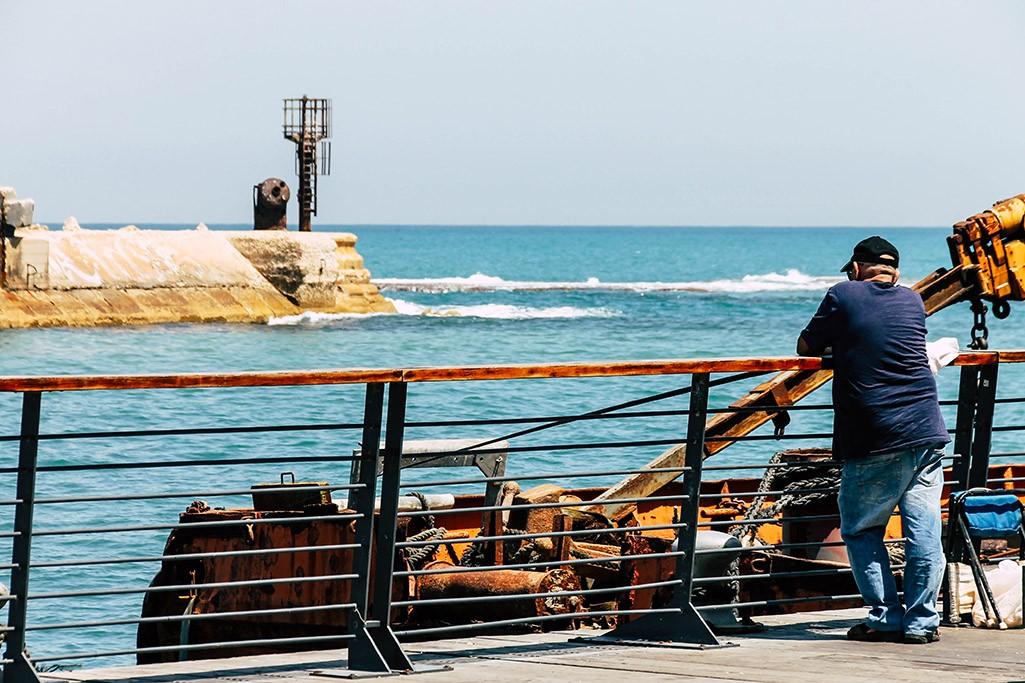 Der Hafen in Jaffa in Tel Aviv
