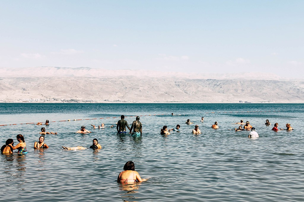 Badestelle am Toten Meer