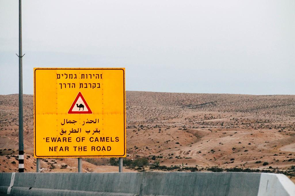 Strassenschild in Israel