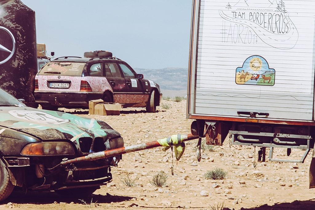 Rallyeautos in Jordanien