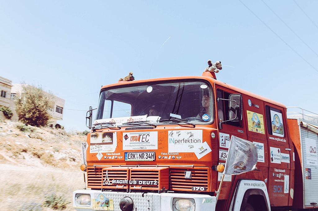 Feuerwehr als Rallyeauto