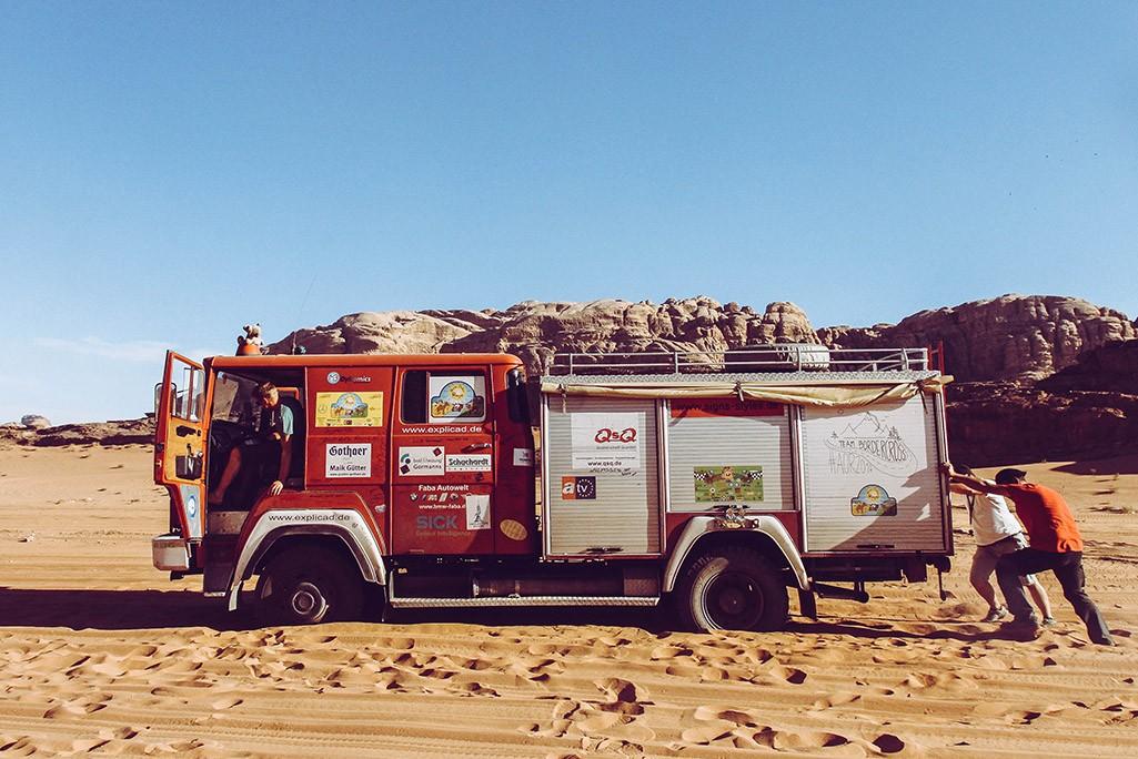 Feuerwehr im Wadi Rum
