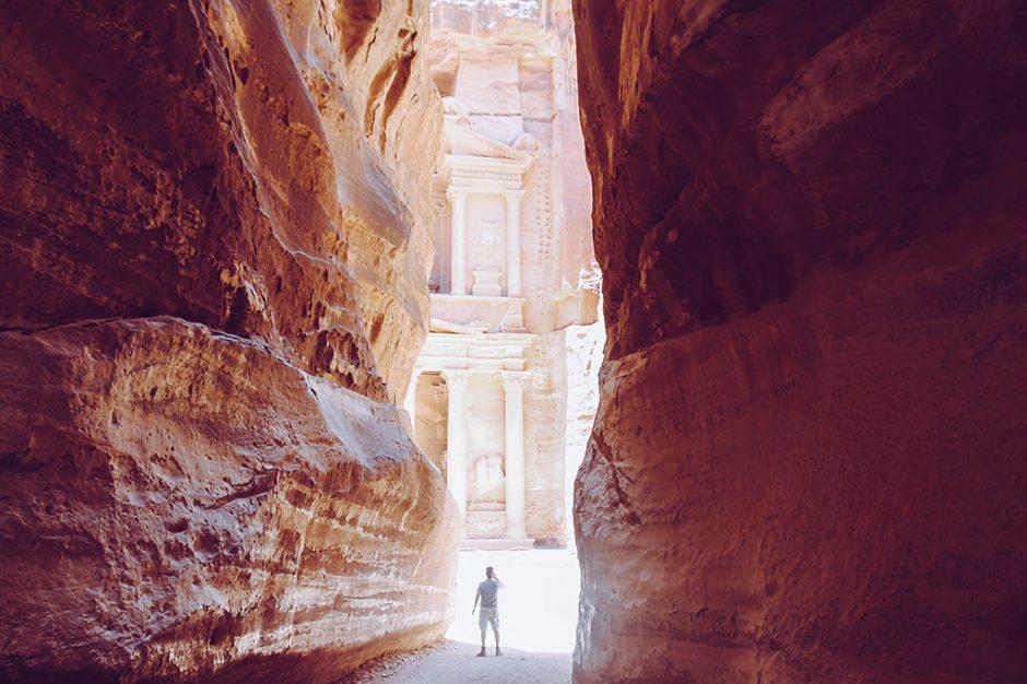 Blick auf die Wuestenstadt Petra