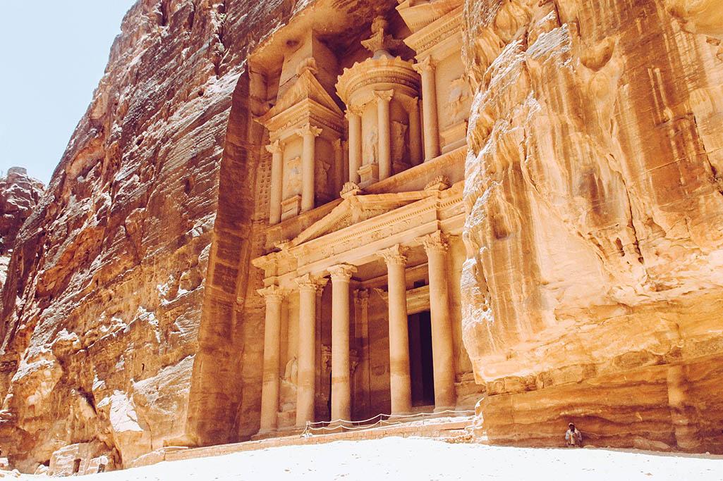Schatzhaus in der Ruinenstadt Petra