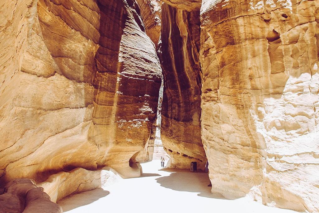 Schluchten in der Ruinenstadt Petra