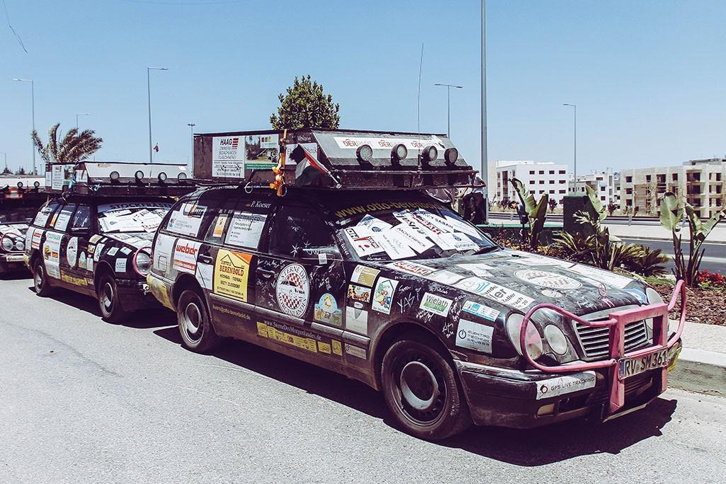 Rallyeteam in Jordanien