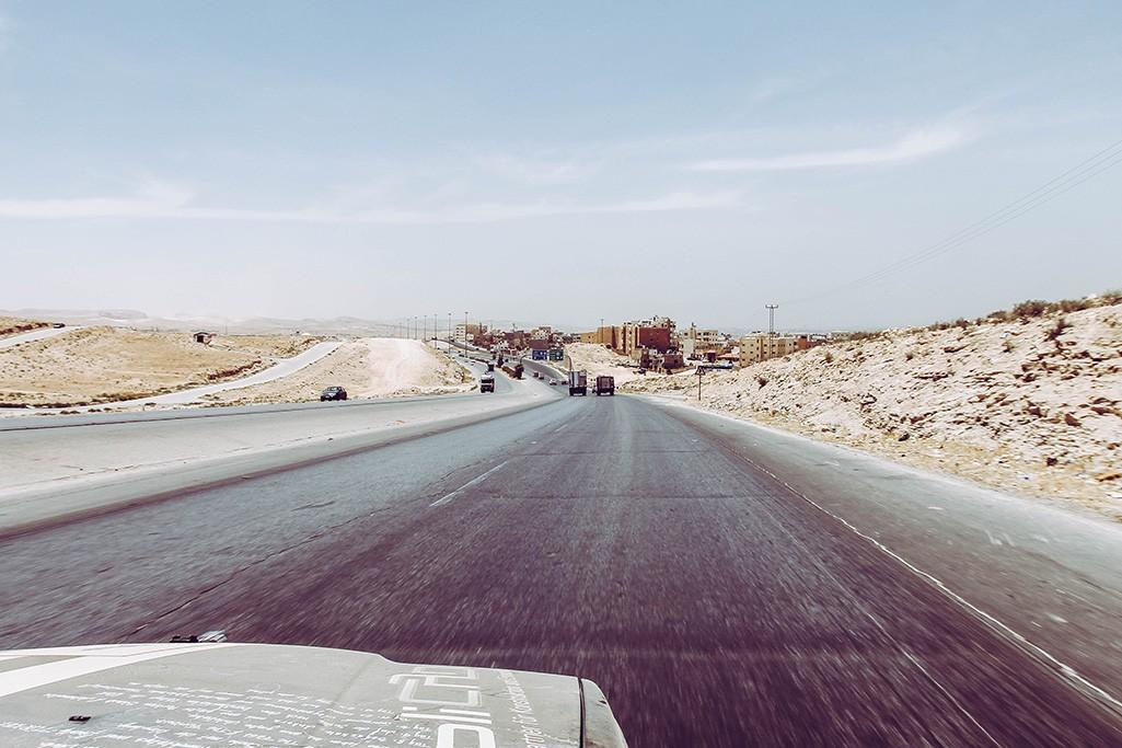 Eine Strasse auf dem weg nach Amman
