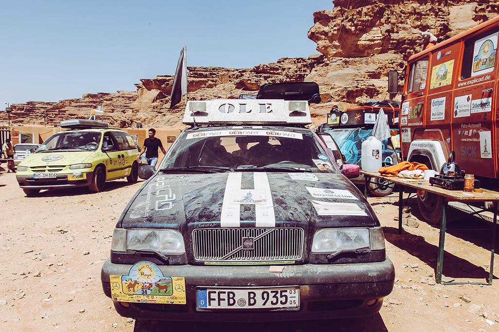 Volvo 850 als Auto für die Europa Orient Rallye