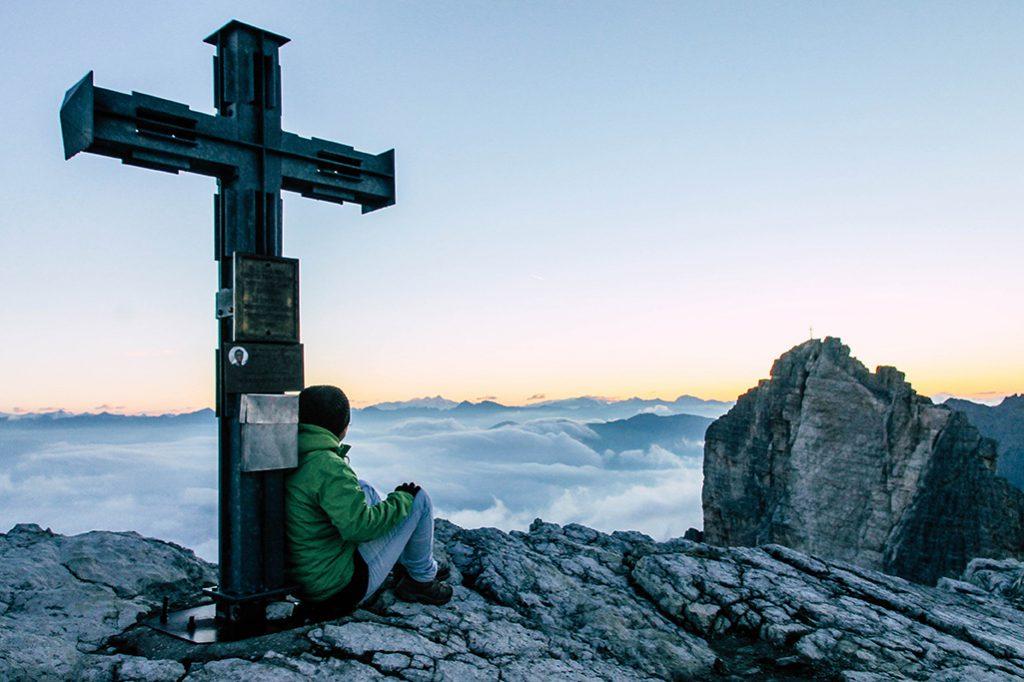 Gipfelkreuz der Oberbachernspitze