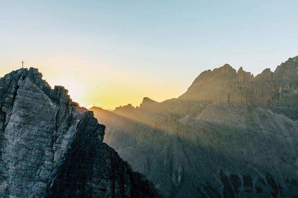 Sonnenaufgang hinter dem Einserkofel