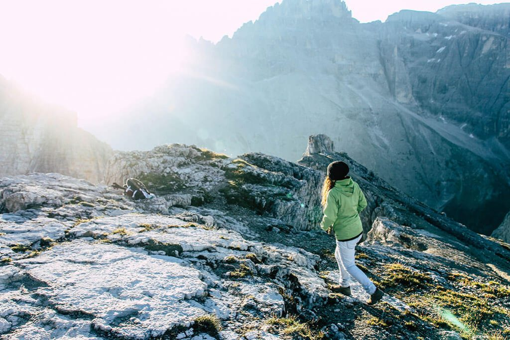 Wanderer auf der Oberbachernspitze