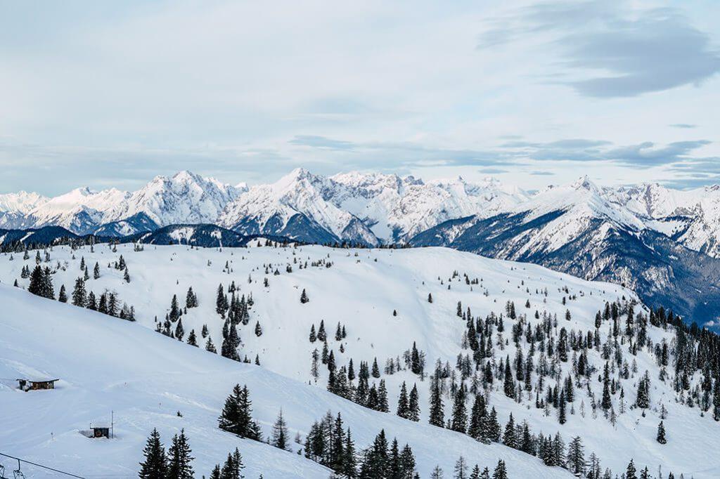 Berglandschaft und den Alpen