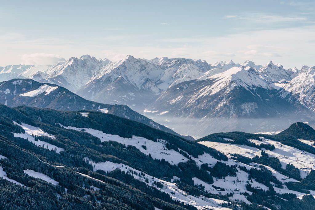 Blick vom Schatzberg ins Alpbachtal