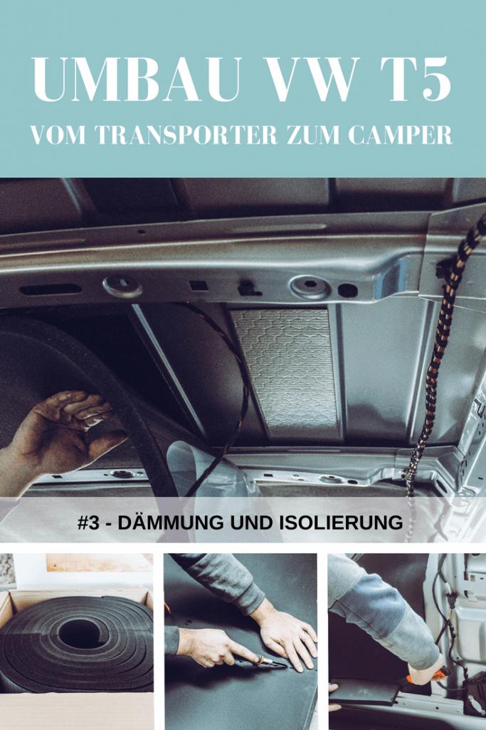 Anbringen von Daemmung und Isolierung im VW