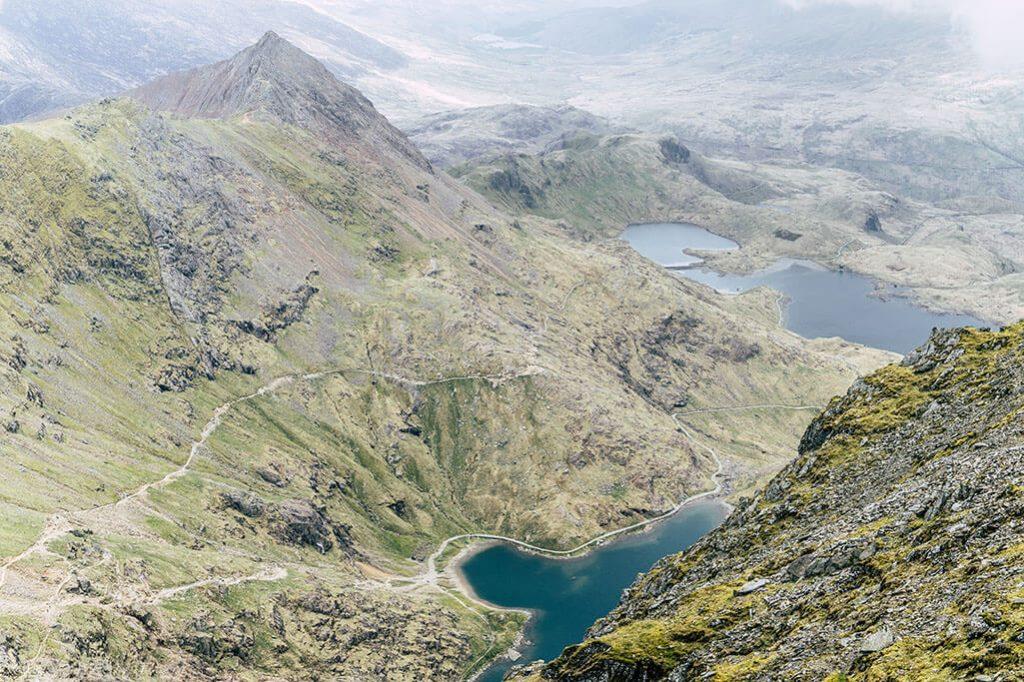 Blick vom Snowdon im Snowdonia Nationalpark